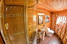 Cedar Walled Yurt Washroom