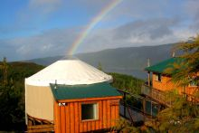 Yurt of the Setting Sun at Soule Creek Lodge, Port Renfrew