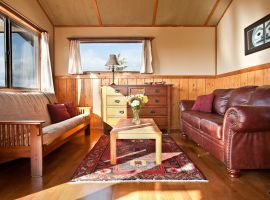 Tanglewood Cabin Accommodation - Interior Living Room in Morning Sunlight
